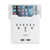 Wall Tap 3 Outlet w/ 2 USB Ports and Phone Stand